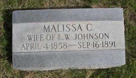 JOHNSON, MALISSA C. - Sheridan County, Nebraska | MALISSA C. JOHNSON - Nebraska Gravestone Photos