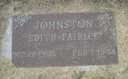 JOHNSTON, EDITH - Sheridan County, Nebraska   EDITH JOHNSTON - Nebraska Gravestone Photos