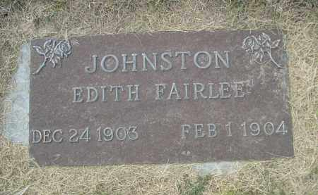 JOHNSTON, EDITH - Sheridan County, Nebraska | EDITH JOHNSTON - Nebraska Gravestone Photos