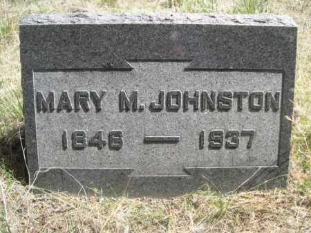 JOHNSTON, MARY M. - Sheridan County, Nebraska   MARY M. JOHNSTON - Nebraska Gravestone Photos