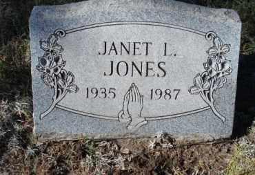 JONES, JANET L. - Sheridan County, Nebraska | JANET L. JONES - Nebraska Gravestone Photos