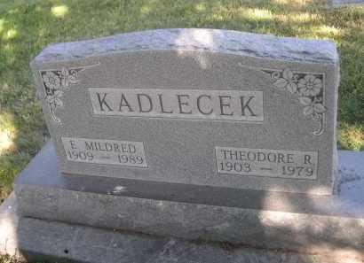 KADLECEK, E. MILDRED - Sheridan County, Nebraska   E. MILDRED KADLECEK - Nebraska Gravestone Photos