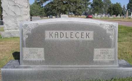 KADLECEK, FRANK - Sheridan County, Nebraska   FRANK KADLECEK - Nebraska Gravestone Photos