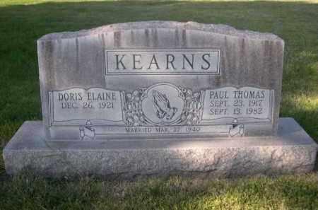 KEARNS, PAUL THOMAS - Sheridan County, Nebraska | PAUL THOMAS KEARNS - Nebraska Gravestone Photos