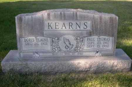 KEARNS, DORIS ELAINE - Sheridan County, Nebraska | DORIS ELAINE KEARNS - Nebraska Gravestone Photos