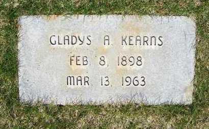 KEARNS, GLADYS A. - Sheridan County, Nebraska | GLADYS A. KEARNS - Nebraska Gravestone Photos