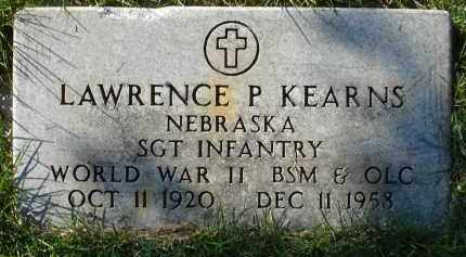 KEARNS, LAWRENCE P. - Sheridan County, Nebraska | LAWRENCE P. KEARNS - Nebraska Gravestone Photos