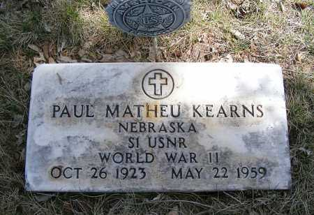 KEARNS, PAUL MATHEU - Sheridan County, Nebraska | PAUL MATHEU KEARNS - Nebraska Gravestone Photos