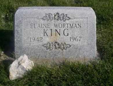 WORTMAN KING, ELAINE - Sheridan County, Nebraska | ELAINE WORTMAN KING - Nebraska Gravestone Photos