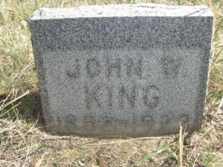 KING, JOHN W. - Sheridan County, Nebraska | JOHN W. KING - Nebraska Gravestone Photos