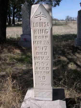 KING, LOUISA - Sheridan County, Nebraska | LOUISA KING - Nebraska Gravestone Photos