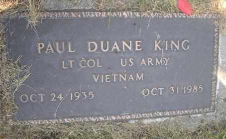KING, PAUL DUANE - Sheridan County, Nebraska | PAUL DUANE KING - Nebraska Gravestone Photos
