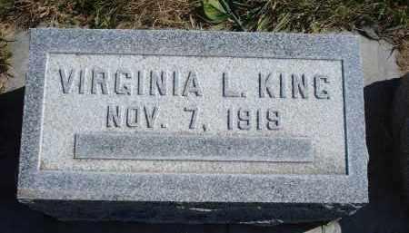 KING, VIRGINIA L. - Sheridan County, Nebraska   VIRGINIA L. KING - Nebraska Gravestone Photos