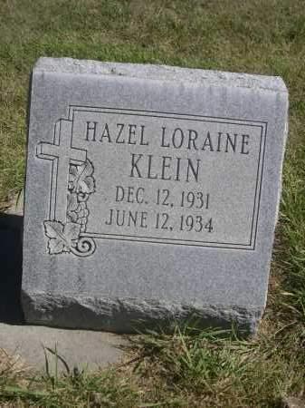 KLEIN, HAZEL LORAINE - Sheridan County, Nebraska | HAZEL LORAINE KLEIN - Nebraska Gravestone Photos