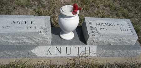 KNUTH, JOYCE E. - Sheridan County, Nebraska | JOYCE E. KNUTH - Nebraska Gravestone Photos