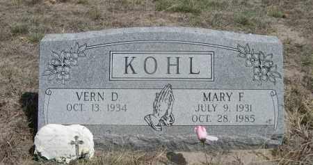 KOHL, MARY F. - Sheridan County, Nebraska | MARY F. KOHL - Nebraska Gravestone Photos