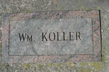 KOLLER, WM. - Sheridan County, Nebraska | WM. KOLLER - Nebraska Gravestone Photos