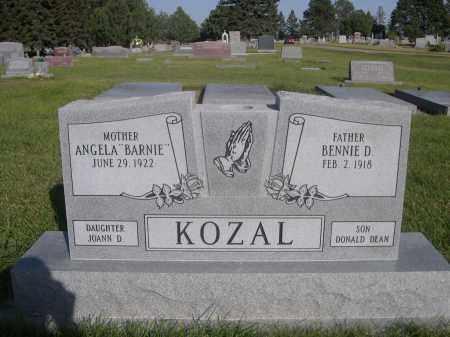 KOZAL, BENNIE D. - Sheridan County, Nebraska | BENNIE D. KOZAL - Nebraska Gravestone Photos