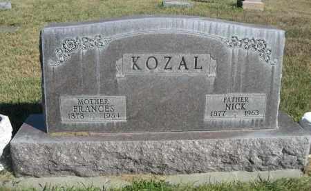 KOZAL, NICK - Sheridan County, Nebraska   NICK KOZAL - Nebraska Gravestone Photos
