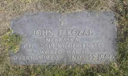 KOZAL, JOHN F. - Sheridan County, Nebraska | JOHN F. KOZAL - Nebraska Gravestone Photos