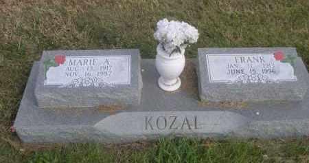 KOZAL, MARIE A. - Sheridan County, Nebraska | MARIE A. KOZAL - Nebraska Gravestone Photos