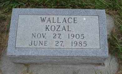 KOZAL, WALLACE - Sheridan County, Nebraska | WALLACE KOZAL - Nebraska Gravestone Photos