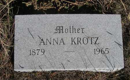 KROTZ, ANNA - Sheridan County, Nebraska   ANNA KROTZ - Nebraska Gravestone Photos