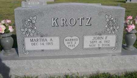 KROTZ, JHON F. - Sheridan County, Nebraska   JHON F. KROTZ - Nebraska Gravestone Photos
