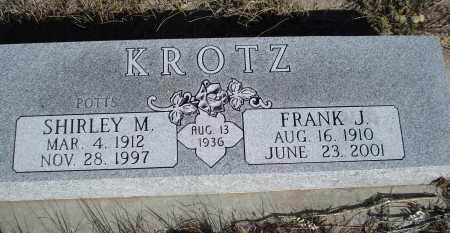 POTTS KROTZ, SHIRLEY M. - Sheridan County, Nebraska | SHIRLEY M. POTTS KROTZ - Nebraska Gravestone Photos