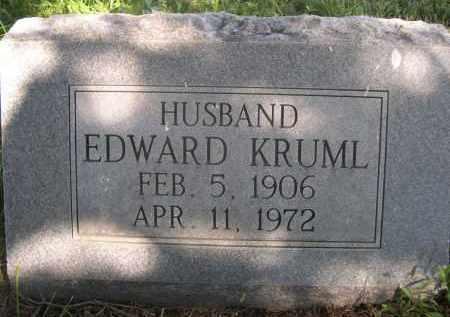 KRUML, EDWARD - Sheridan County, Nebraska   EDWARD KRUML - Nebraska Gravestone Photos