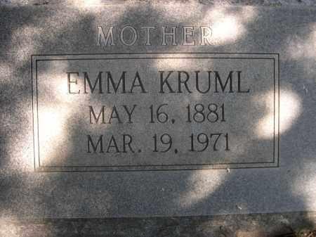 KRUML, EMMA - Sheridan County, Nebraska | EMMA KRUML - Nebraska Gravestone Photos