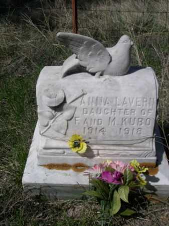 KUBO, ANNA LAVERN - Sheridan County, Nebraska | ANNA LAVERN KUBO - Nebraska Gravestone Photos