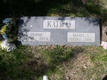 KUBO, FRANK - Sheridan County, Nebraska | FRANK KUBO - Nebraska Gravestone Photos
