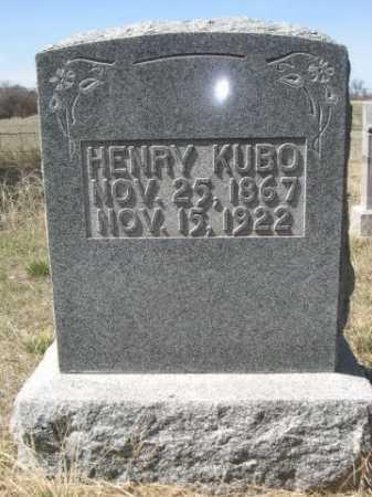 KUBO, HENRY - Sheridan County, Nebraska | HENRY KUBO - Nebraska Gravestone Photos