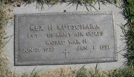 KUTSCHARA, REX H. - Sheridan County, Nebraska | REX H. KUTSCHARA - Nebraska Gravestone Photos