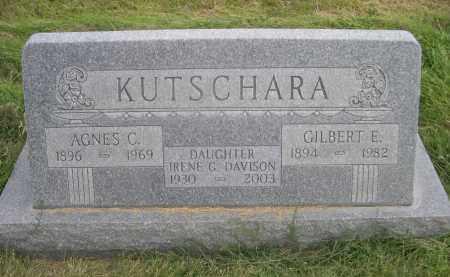 KUTSCHARA, GILBERT E. - Sheridan County, Nebraska | GILBERT E. KUTSCHARA - Nebraska Gravestone Photos