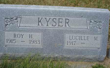 KYSER, LUCILLE M. - Sheridan County, Nebraska   LUCILLE M. KYSER - Nebraska Gravestone Photos