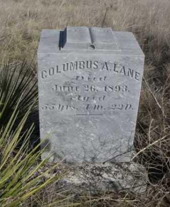 LANE, COLUMBUS A. - Sheridan County, Nebraska | COLUMBUS A. LANE - Nebraska Gravestone Photos