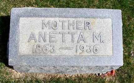 LAWRENCE, ANETTA M. - Sheridan County, Nebraska | ANETTA M. LAWRENCE - Nebraska Gravestone Photos