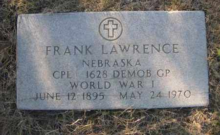 LAWRENCE, FRANK - Sheridan County, Nebraska | FRANK LAWRENCE - Nebraska Gravestone Photos