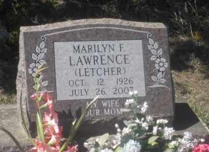 LETCHER LAWRENCE, MARILYN F. - Sheridan County, Nebraska | MARILYN F. LETCHER LAWRENCE - Nebraska Gravestone Photos