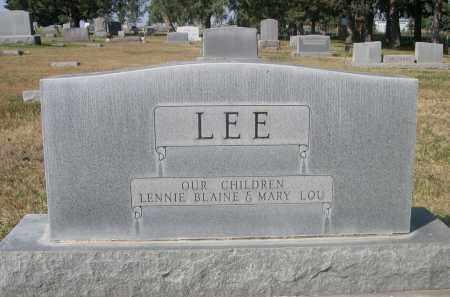 LEE, MARY - Sheridan County, Nebraska | MARY LEE - Nebraska Gravestone Photos