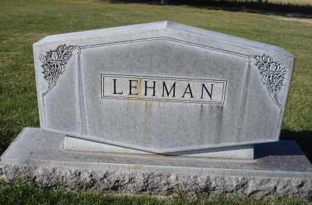LEHMAN, FAMILY - Sheridan County, Nebraska   FAMILY LEHMAN - Nebraska Gravestone Photos