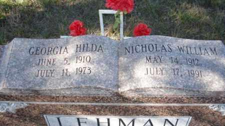 LEHMAN, GEORGIA HILDA - Sheridan County, Nebraska | GEORGIA HILDA LEHMAN - Nebraska Gravestone Photos