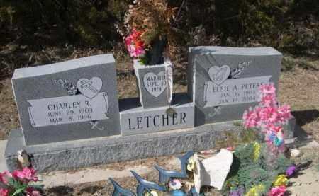 LETCHER, CHARLEY R. - Sheridan County, Nebraska | CHARLEY R. LETCHER - Nebraska Gravestone Photos