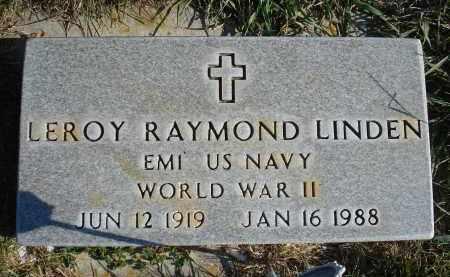 LINDEN, LEROY RAYMOND - Sheridan County, Nebraska   LEROY RAYMOND LINDEN - Nebraska Gravestone Photos