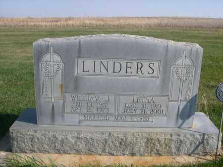 LINDERS, WILLIAM J. - Sheridan County, Nebraska | WILLIAM J. LINDERS - Nebraska Gravestone Photos