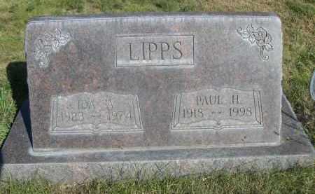 LIPPS, PAUL H. - Sheridan County, Nebraska | PAUL H. LIPPS - Nebraska Gravestone Photos