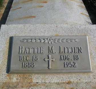 LITJEN, HATTIE M. - Sheridan County, Nebraska   HATTIE M. LITJEN - Nebraska Gravestone Photos