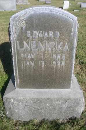 LNENICKA, EDWARD - Sheridan County, Nebraska | EDWARD LNENICKA - Nebraska Gravestone Photos